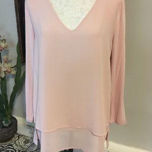 Michael Kors size medium light pink blouse NWT